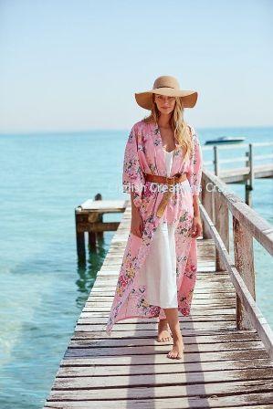 Kimono de playa impreso